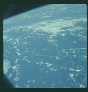 Earth viewed form Apollo 7, the first mission in the Apollo programme to take a crew to space