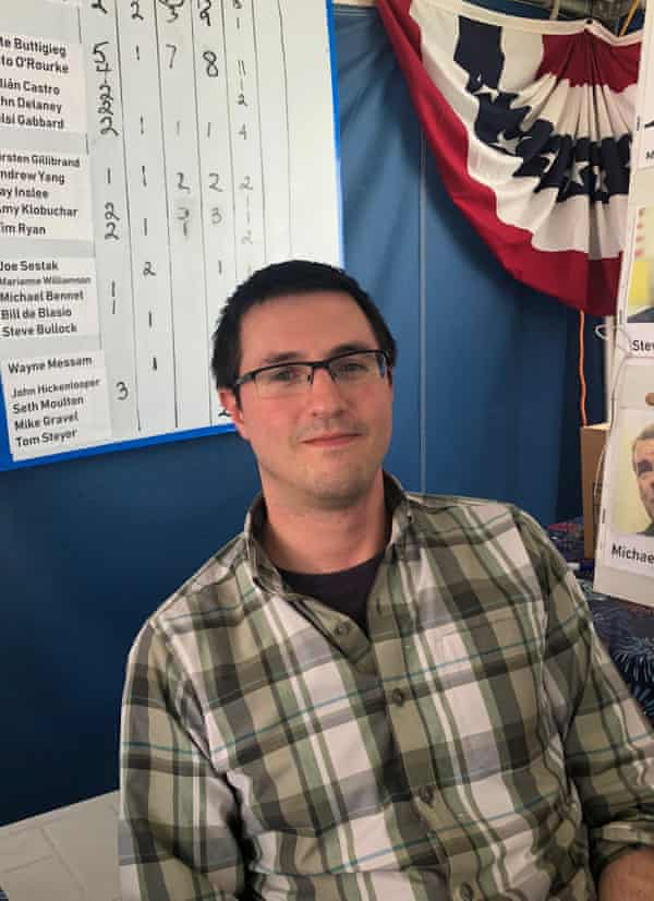 Christopher Slat, a Democratic party activist in Monroe county, Michigan, backs Bernie Sanders.