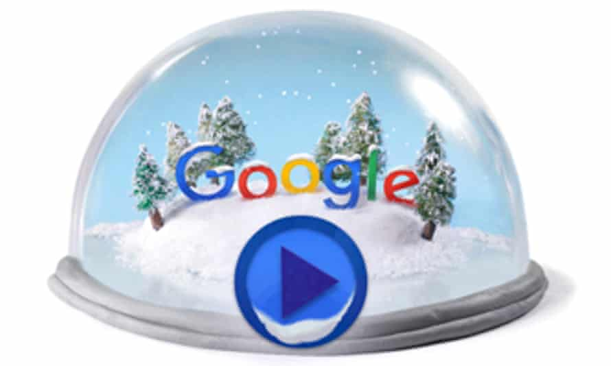 """Today's Google doodle is in celebration of the winter solstice, the """"shortest"""" day of the year."""