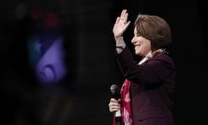 Amy Klobuchar in February. The Minnesota senator has ended her campaign.