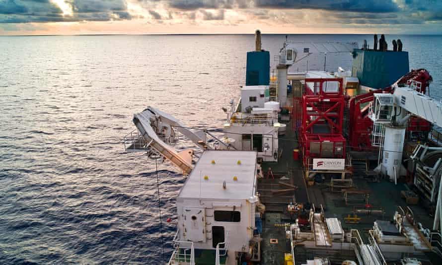 Deep-sea mining off the Papua New Guinea coast.