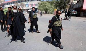 Private security guards in Herat.