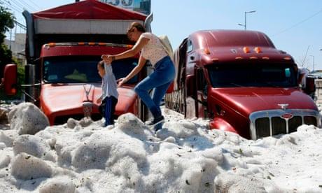 Freak summer hailstorm buries cars in Mexico's Guadalajara