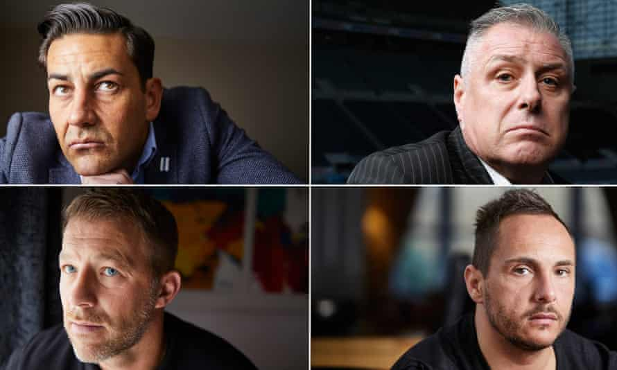 Footballers who have spoken about sexual abuse include (clockwise from top left) Andy Woodward, Derek Bell, David Eatock and Steve Walters.