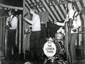 David Bowie singing with the Lower Third at the Marquee Club in London in 1966.