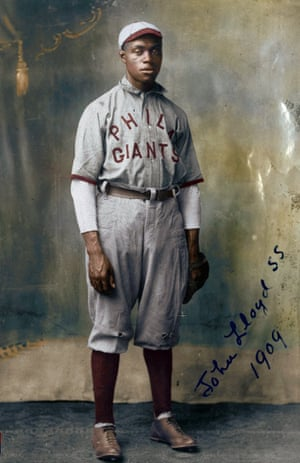 John Henry 'Pop' Lloyd in 1909, Philadelphia Giant, considered the greatest shortstop in the history of the league.
