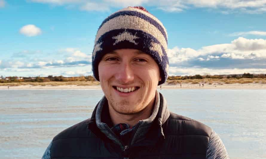 Chris Holdsworth, a 25-year-old volunteer who is studying for a PhD at the University of Edinburgh.