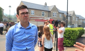 Mayor of Greater Manchester Andy Burnham speaks to the media