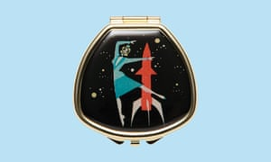 Rocket girl refillable lip balm compact