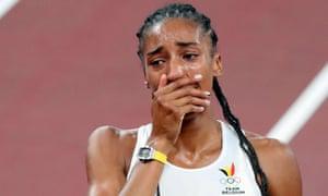 Belgian Nafissatou Nafi Thiam after winning gold in the women's heptathlon.