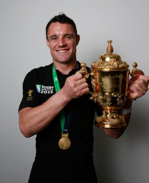Carter got his hands on the Webb Ellis Cup for a second time at the most recent edition of the Rugby World Cup after his man-of-the-match performance.