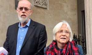 Parents Ken and Alison Orchard speak outside court last year after officers were cleared of their son's manslaughter.