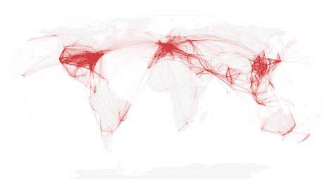How is the coronavirus affecting global air traffic?