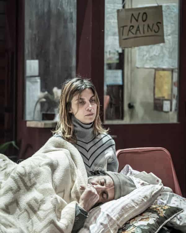 Natalia Tena, as refugee Katia, and Kevork Malikyan as her father, Sava in Europe.