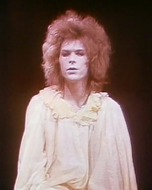 David Bowie, who was mentored by Kemp, in a 1973 production of Pierrot in Turquoise.