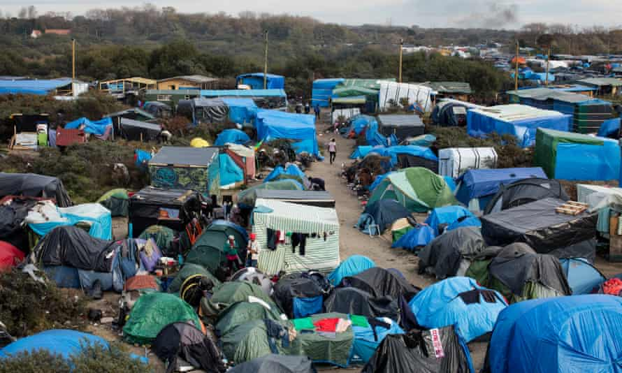 The former Calais migrant camp known as 'the Jungle'.