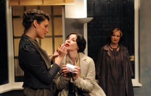 Waller-Bridge was 'growlingly impressive' as The Intern, with Sarah Smart as The Mother and Deborah Findlay as The Architect, in Like a Fishbone at the Bush theatre in 2010. Josie Rourke directed Anthony Weigh's play.