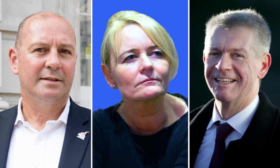 Unite leadership candidates Steve Turner, Sharon Graham and Gerard Coyne