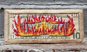 American Dollar Banknote artworks by Stacey Lee Webber