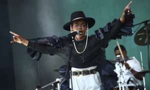 Lauryn Hill performs on the Pyramid stage at Glastonbury 2019.