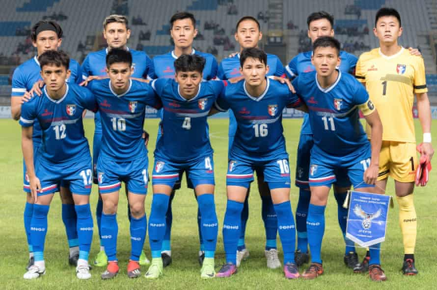 The Chinese Taipei football team.