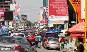 A street in Accra, Ghana.
