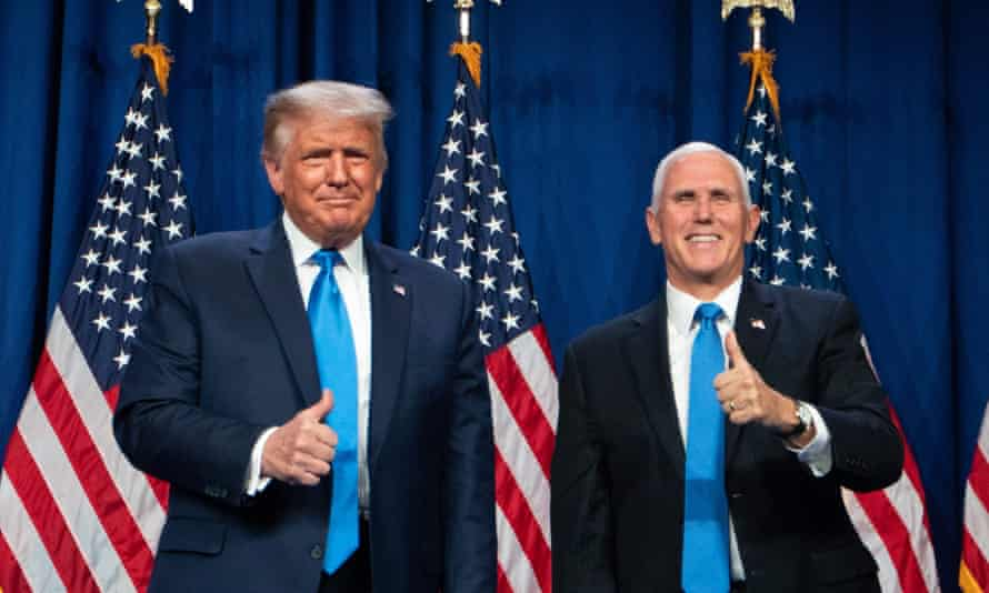 US President Donald Trump and Vice-President Mike Pence.