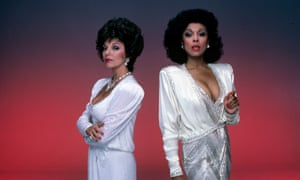 Diahann Carroll's Dominique Deveraux, right, proved a match for Joan Collins' Alexis Colby in Dynasty.