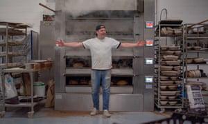 Steven Winter in the bakery