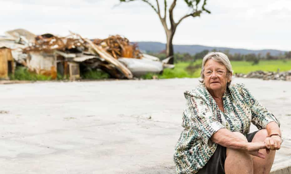 Lindy Marshall, a resident of Verona, NSW, who lost her home in the bushfires and is still living in her shed