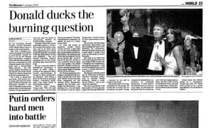 Observer article about Donald Trump from January 2000