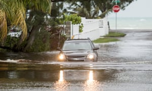 A flooded street in Nassau, the capital of the Bahamas, on Monday.
