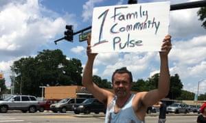 A demonstrator in Orlando.