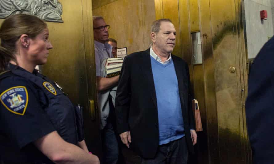 Harvey Weinstein leaves the Manhattan criminal court on 25 May 2018 in New York.