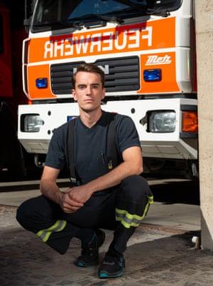Leo Dittrich, German firefighter