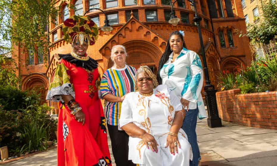 Caribbean queens … Allyson Williams, Sister Monica Tywang, Lady Lee Woolford Chivers and Kim Woolford.