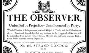 The Observer's launch manifesto of 1791.