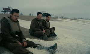 Harry Styles, Aneurin Barnard and Fionn Whitehead in a still from Dunkirk.