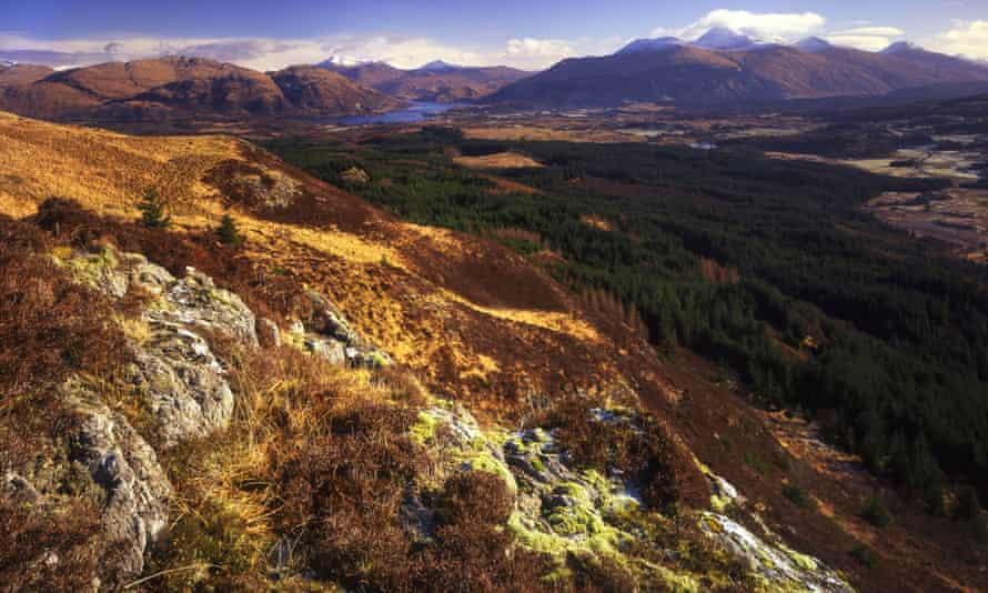 Hills above Glen Lonan, near Oban, Argyll.