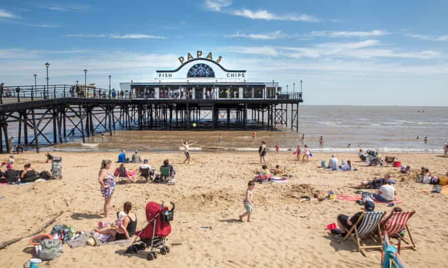 The pier and beach at Cleethorpes.