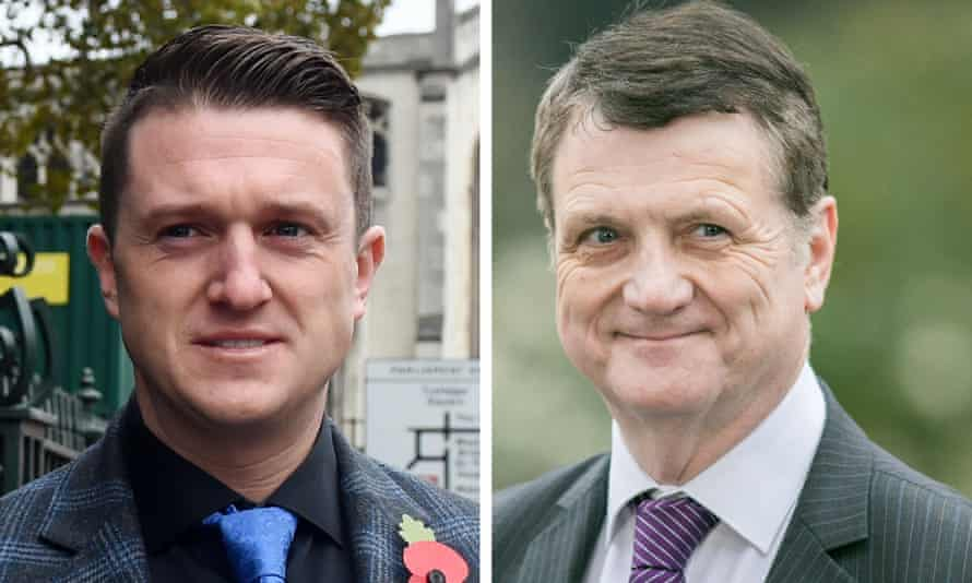 Tommy Robinson and Gerard Batten