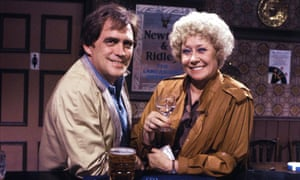 Vera and Jack in the Rovers Return in 1983.