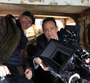Ron Howard directing Tom Hanks in 2016's Inferno