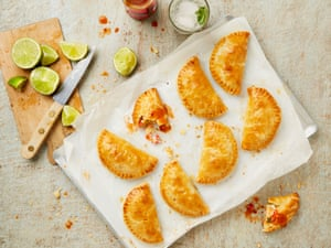 Yotam Ottolenghi's prawn and cream cheese pasties.