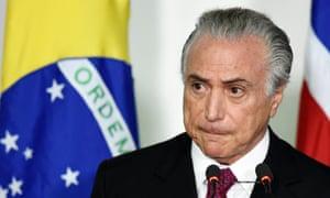 Brazilian vice-president Michel Temer in November.