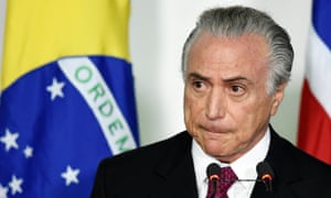 Brazilian vice-president Michel Temer in November.
