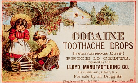 "Cocaine Toothache Drops Advertisementca. 1885 --- A late 19th-century advertisement for Cocaine Toothache Drops promises ""Instantaneous Cure!"" --- Image by © CORBIS"