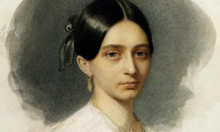 Portrait of a young Clara Schumann.