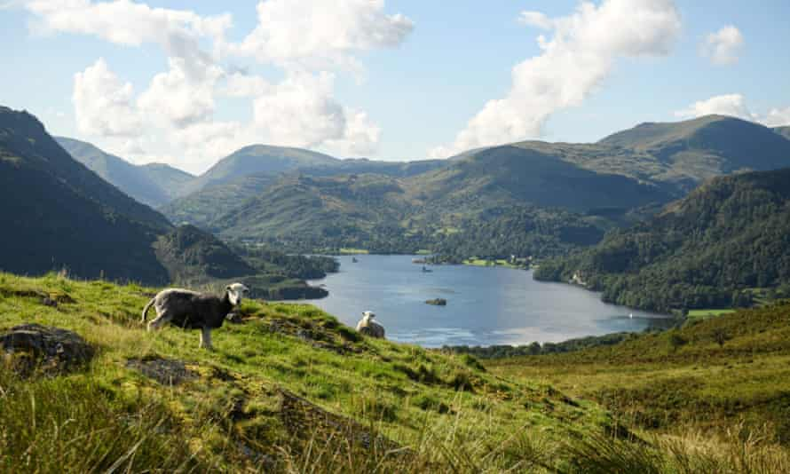Ullswater in the Lake District of north-west England. The national park was hit by Storm Desmond in 2015.