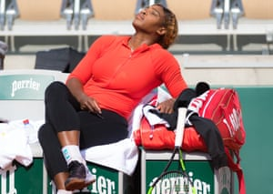 Serena Williams at Roland Garros this week.